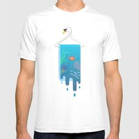 Swan Hanger Mens Fitted Tee White SMALL