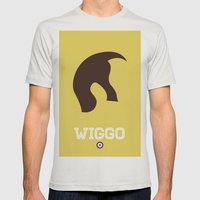 Wiggo Mens Fitted Tee Silver SMALL