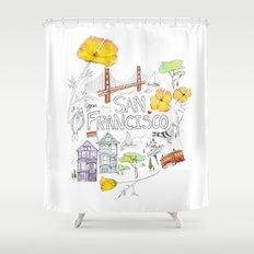 Friends + Neighbors : San Francisco Shower Curtain