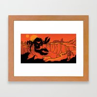 The Beast of Shadow Valley Framed Art Print