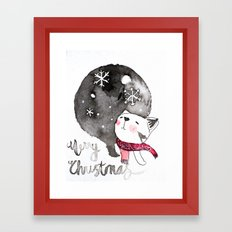 Wishing you a Merry Christmas  Framed Art Print
