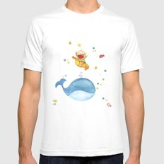 Baby whale Mens Fitted Tee White SMALL