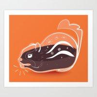 Transparent Chipmunks Lo… Art Print