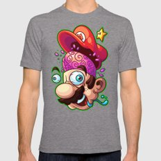 Super Shroomed Mens Fitted Tee Tri-Grey SMALL