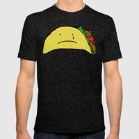 Sad Taco Mens Fitted Tee Tri-Black SMALL