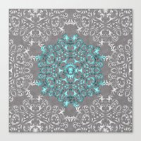 Mandala Pattern with Glitters Canvas Print