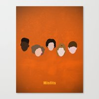 Minimalism Misfits  Canvas Print