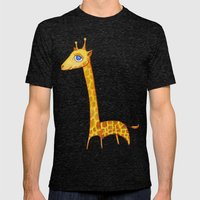Baby Giraffe Mens Fitted Tee Tri-Black SMALL