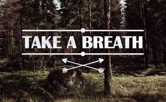 Take a breath Art Print
