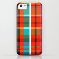 iPhone 5c Cases featuring Madras Bright Check by Simi Design