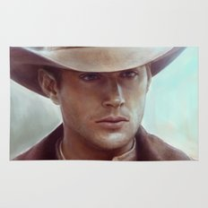 Dean Winchester from Supernatural Rug