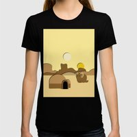 Tatooine Womens Fitted Tee Black SMALL