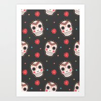 The Sugar Skull Pattern Art Print