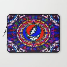 Grateful Dead 'Steal Your Face' Colorful Mandala Psychedelic Skeleton Tapestry Laptop Sleeve