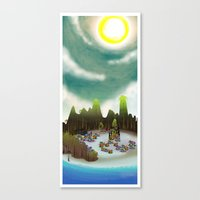 PEACEFUL LIVING Canvas Print