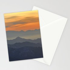 Mountains. Foggy sunset Stationery Cards