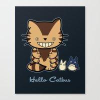 Hello Catbus Canvas Print