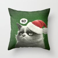 Grumpy Xmas Throw Pillow