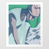 Climbing New Mountains Art Print