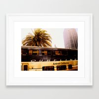 All Aboard the Surfline Framed Art Print