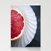 Grapefruit - Foodie Macr… Stationery Cards