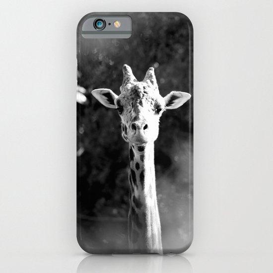 portrait of giraffe iPhone & iPod Case