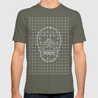 Triangle and Line Art Skull Mens Fitted Tee Lieutenant SMALL