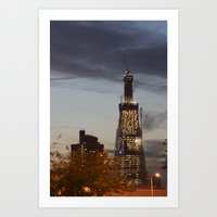 The Shard...the super fast growing skyscraper Art Print