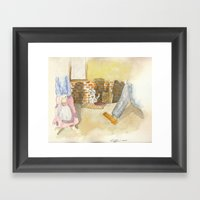 Please A Little Help! Framed Art Print
