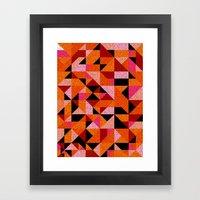 Blue For You / Pattern #8 Framed Art Print