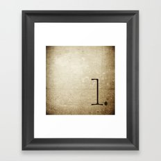 NUMBER 1 Framed Art Print