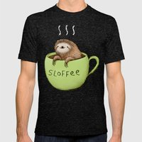 Sloffee Mens Fitted Tee Tri-Black SMALL