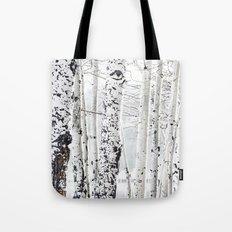 White Tree 2 Tote Bag