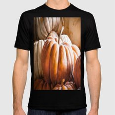 Autumn Pumpkins Mens Fitted Tee Black SMALL