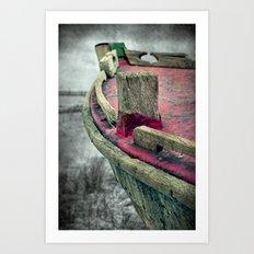 old pink ship Art Print