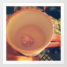 Waiter, There's a Pig in My Drink Art Print
