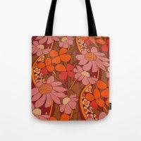 Crazy pinks 50s Flower  Tote Bag
