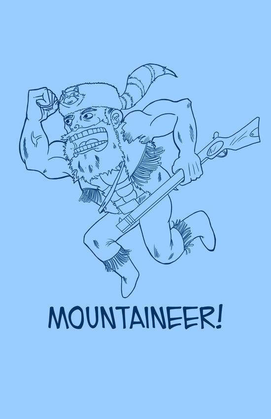 Mountaineer! (blue) Art Print