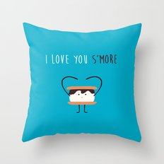 I LOVE YOU S'MORE Throw Pillow