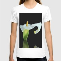 Calla Lily Womens Fitted Tee White SMALL