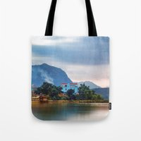Painted Blue House Lands… Tote Bag