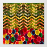 Chevron And Dots Canvas Print