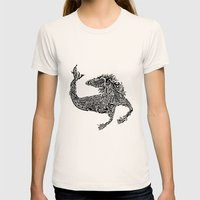 Hippocampus Womens Fitted Tee Natural SMALL