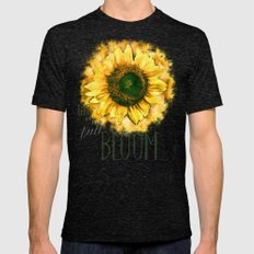 Painting Sunflower - Life is in full bloom Mens Fitted Tee Tri-Black SMALL