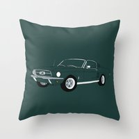 1968 Ford Mustang GT Throw Pillow