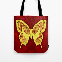 Henna Butterfly No. 5 Tote Bag
