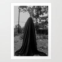 Dark Cloth 2 Art Print