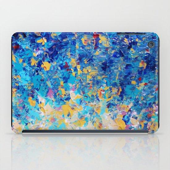 HYPNOTIC BLUE SUNSET - Simply Beautiful Royal Blue Navy Turquoise Aqua Sunrise Abstract Nature Decor iPad Case