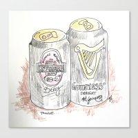 Cans. Canvas Print