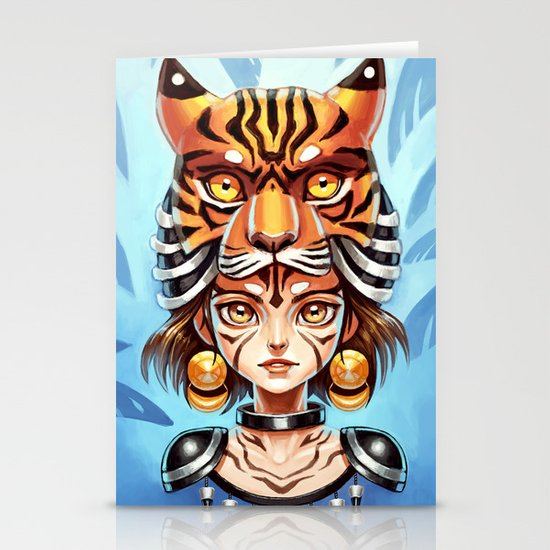 Tiger Tribe Stationery Card
